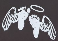 Baby feet with angel wings and halo. I want 2 of them for the twins ... clip art library