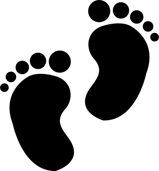 Baby feet heart clipart png black and white Baby Feet Stamp | Baby Rubber Stamps – Stamptopia png black and white