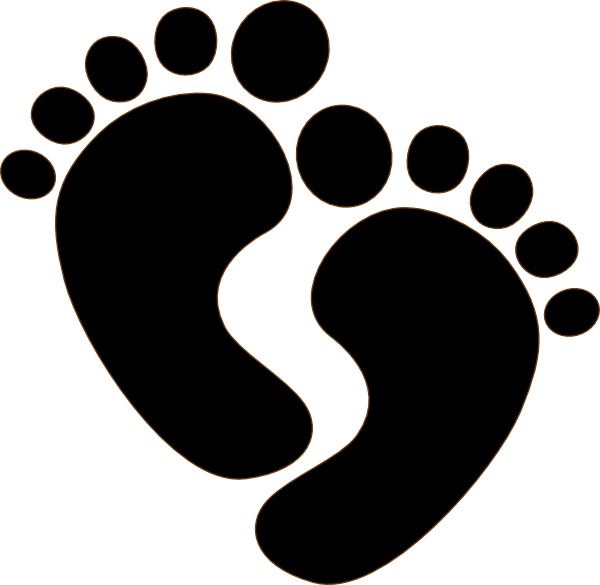 Footprint heart clipart clip library Baby Foot Silhouette at GetDrawings.com | Free for personal use Baby ... clip library