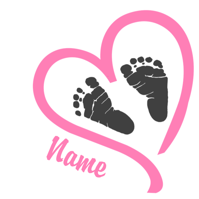 Baby feet heart clipart clip art black and white download Baby Feet Pink Personalized Maternity Tank Top by hotmommatees clip art black and white download