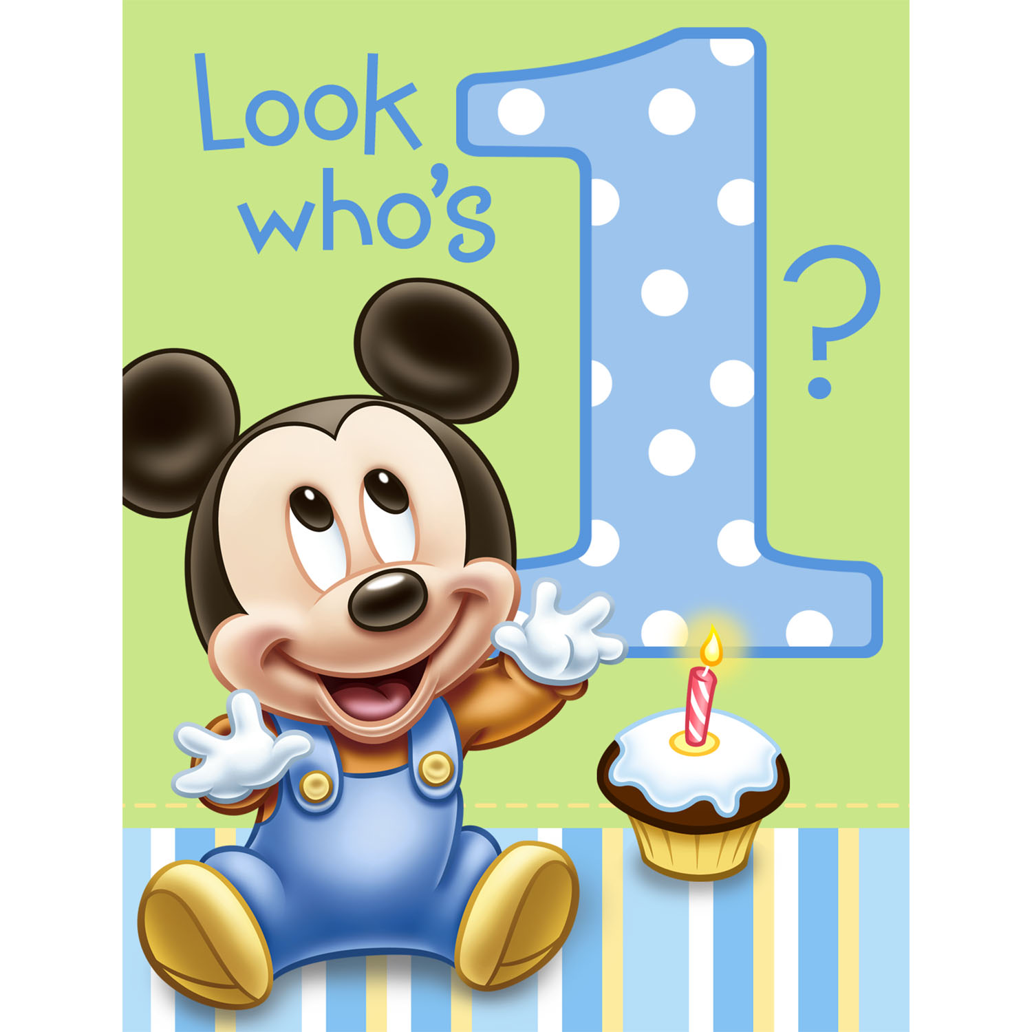 Baby first birthday clipart image free stock Mickey's 1st Birthday Invitations 8ct | My CMS image free stock