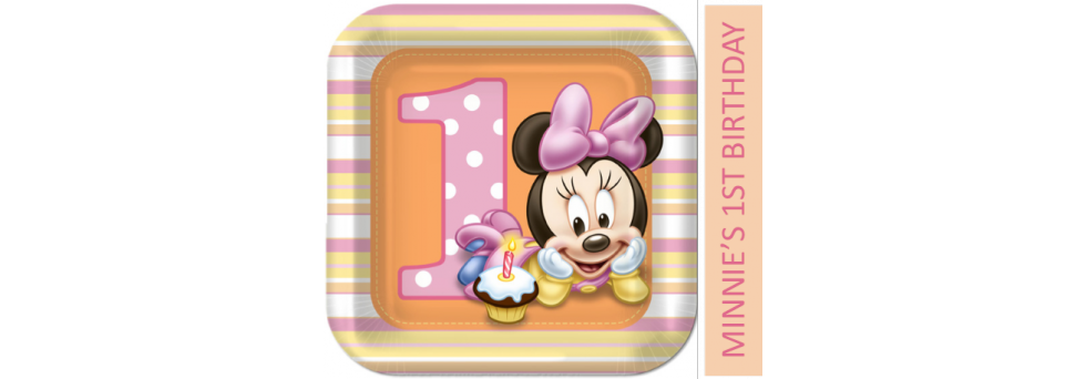 Baby first birthday clipart clip art free library Minnie Mouse First Birthday - Party World clip art free library