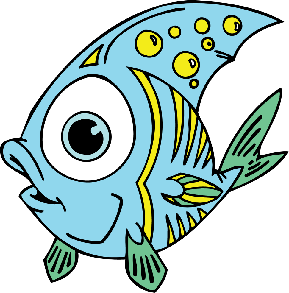 Fish reading clipart vector free download Better Fish Pictures For Kids Cute Cartoon Set Isolated Baby Vector ... vector free download