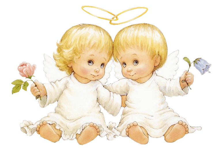 Baby flower clipart png stock Two Baby Angels With Flowers Free Clipart | Gallery Yopriceville ... stock