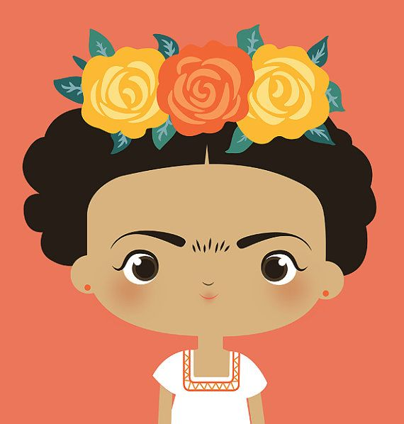 Baby frida kahlo clipart clip art library Frida Kahlo Themed Prints for Nursery, Baby Shower, or Birthday ... clip art library