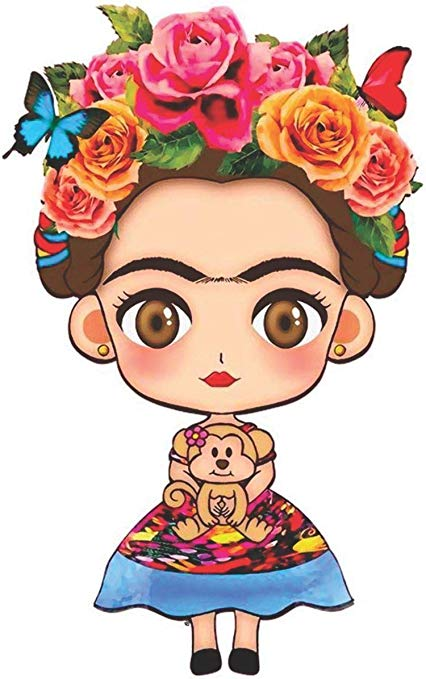 Baby frida kahlo clipart banner freeuse download Set (2 PCS) Frida Kahlo Cartoon Decals Stickers Full Color/Weather Proof  (3\