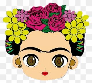 Baby frida kahlo clipart clipart black and white stock Azulejo Frida Kahlo De Alexsandro Almeidana Clipart - Full Size ... clipart black and white stock