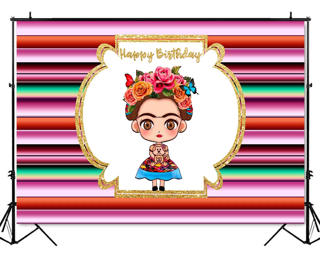 Baby frida kahlo clipart clip art free library Mehofoto Frida Kahlo Mexican Backdrop Mexican Theme Birthday Party  Background 7x5ft Vinyl Mexican Girl Birthday Party Banner Decoration  Backdrops clip art free library