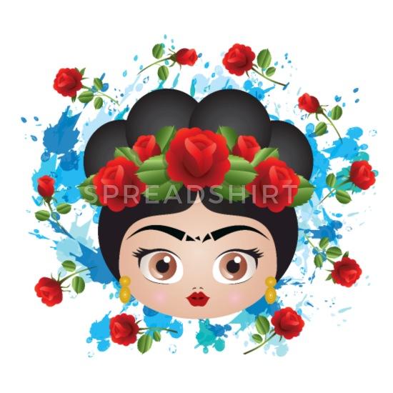 Baby frida kahlo clipart image royalty free download Frida Kahlo Roses Baby Lap Shoulder T-Shirt - black image royalty free download