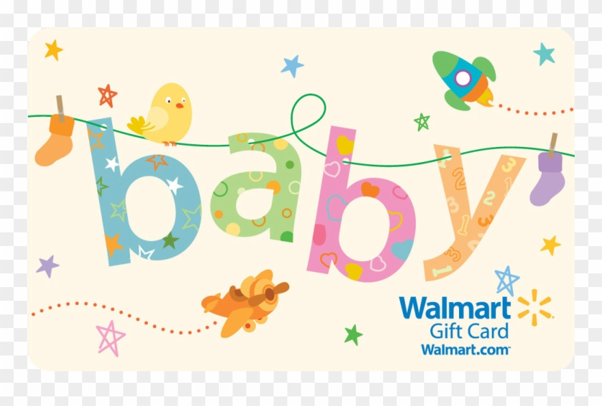 Baby gift clipart image freeuse download Walmart Baby Clothesline Gift Card Clipart (#1473787) - PinClipart image freeuse download