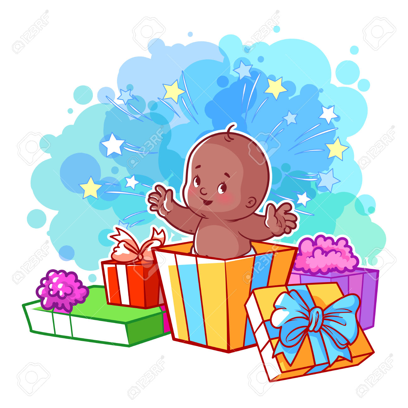 Baby gift clipart clip art free download Cartoon Gift Box Clipart | Free download best Cartoon Gift Box ... clip art free download