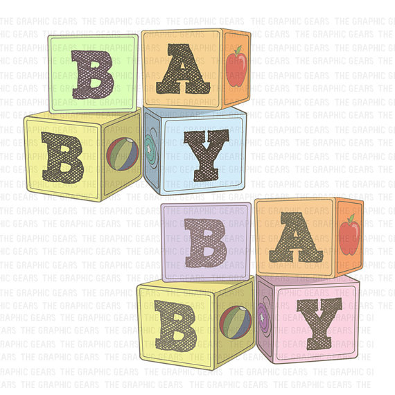 Baby girl alphabet clipart jpg freeuse download It's A Boy Blocks Clipart - Clipart Kid jpg freeuse download
