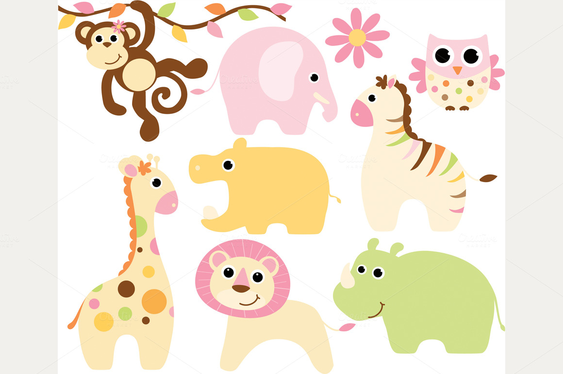 Baby girl animals clipart svg royalty free stock Baby girl animals clipart - ClipartFest svg royalty free stock