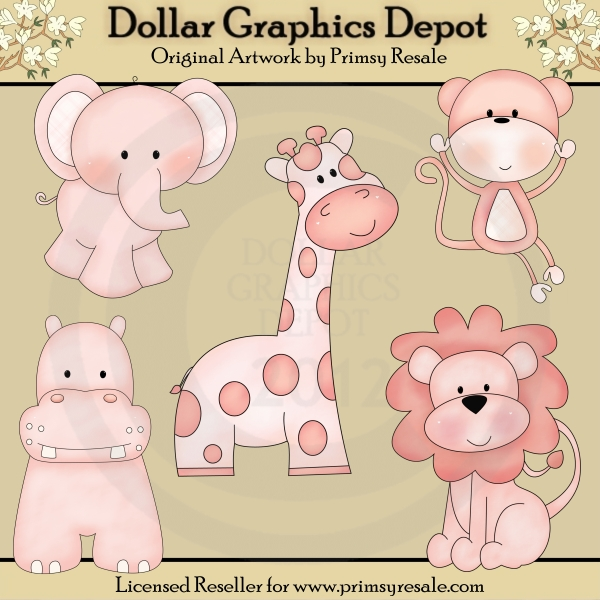 Baby girl animals clipart clipart black and white download Baby girl animal clipart - ClipartFest clipart black and white download