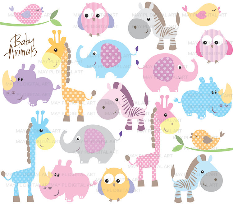 Baby girl animals clipart clip free Free Baby Safari Clip Art | Baby Girl Drawings Clip Art Baby ... clip free
