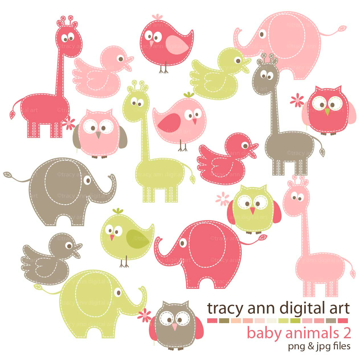 Baby girl animals clipart jpg transparent download Free baby animals clipart - ClipartFest jpg transparent download