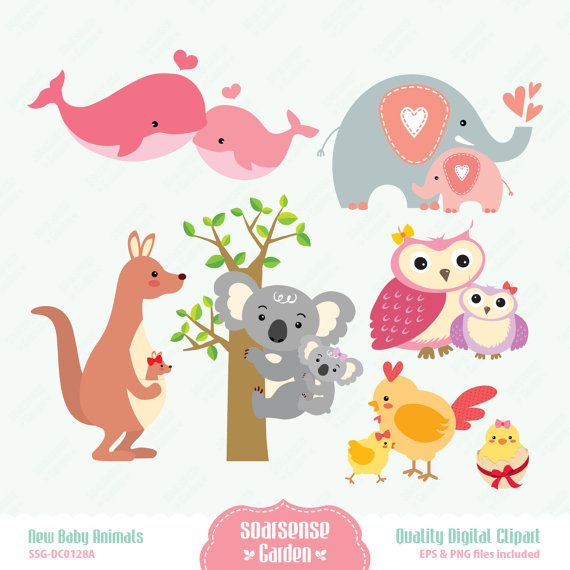 Baby girl animals clipart vector black and white library New Baby Girl Clipart - Clipart Kid vector black and white library