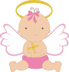 Clipartfest angel. Baby girl baptism clipart
