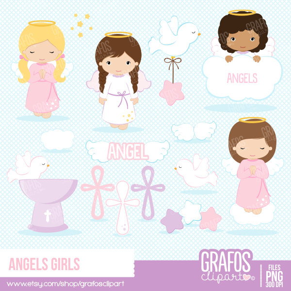 Clip art free download. Baby girl baptism clipart