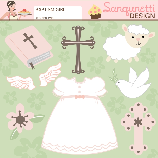 Clipartfest . Baby girl baptism clipart