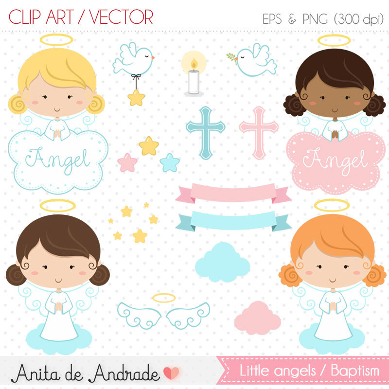 Baby girl baptism clipart picture library Baptism clipart | Etsy picture library