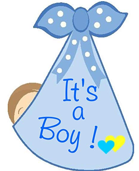 Baby girl birth announcement clipart jpg library stock Amazon.com: It\'s a Boy Stork Bundle Door Hanger - Welcome Home New ... jpg library stock
