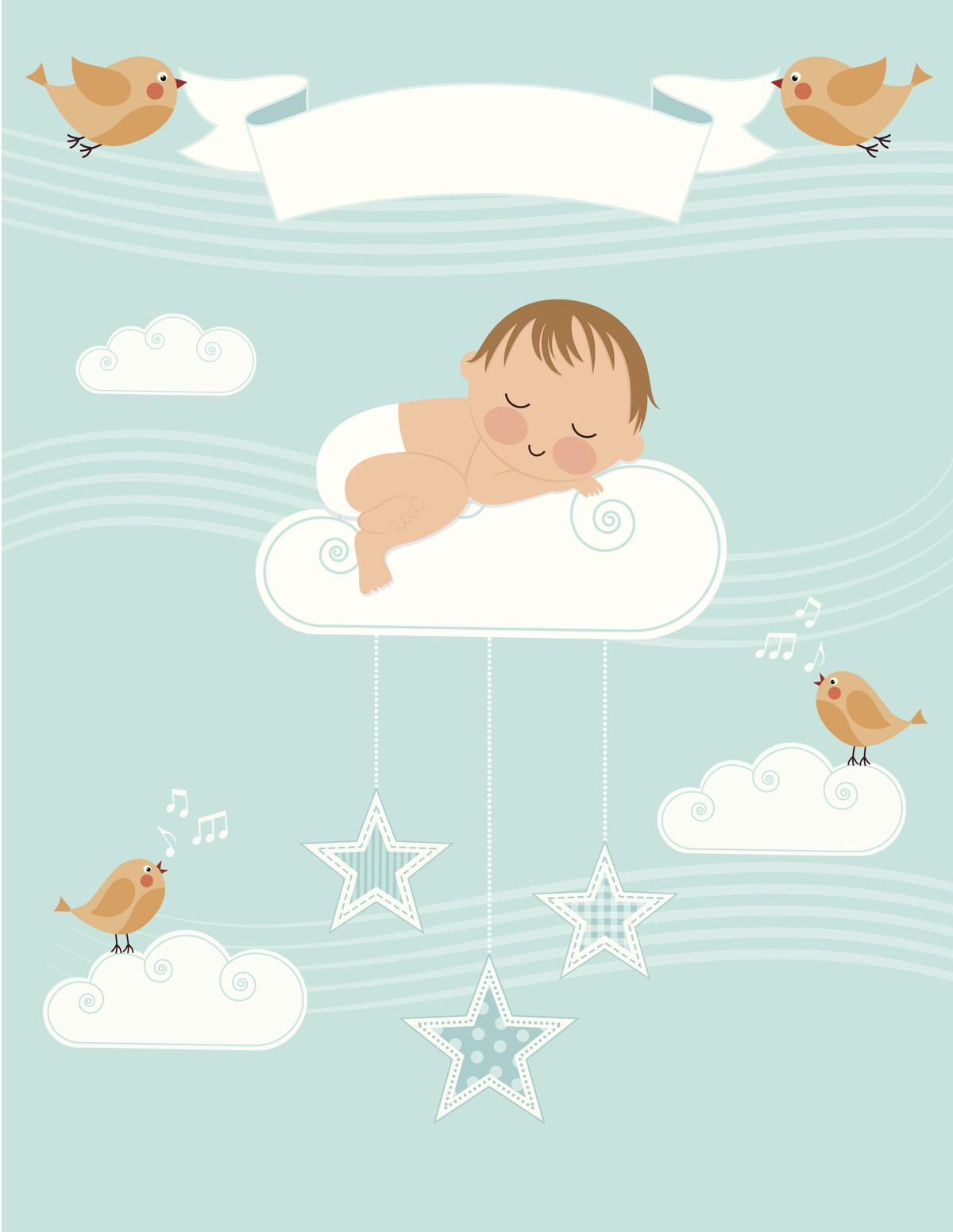 Baby girl birth announcement clipart png transparent stock Amazingly Creative Birth Announcement Templates png transparent stock