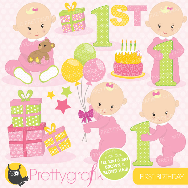 Baby girl birthday clipart clip art transparent Free First Birthday Cliparts, Download Free Clip Art, Free Clip Art ... clip art transparent