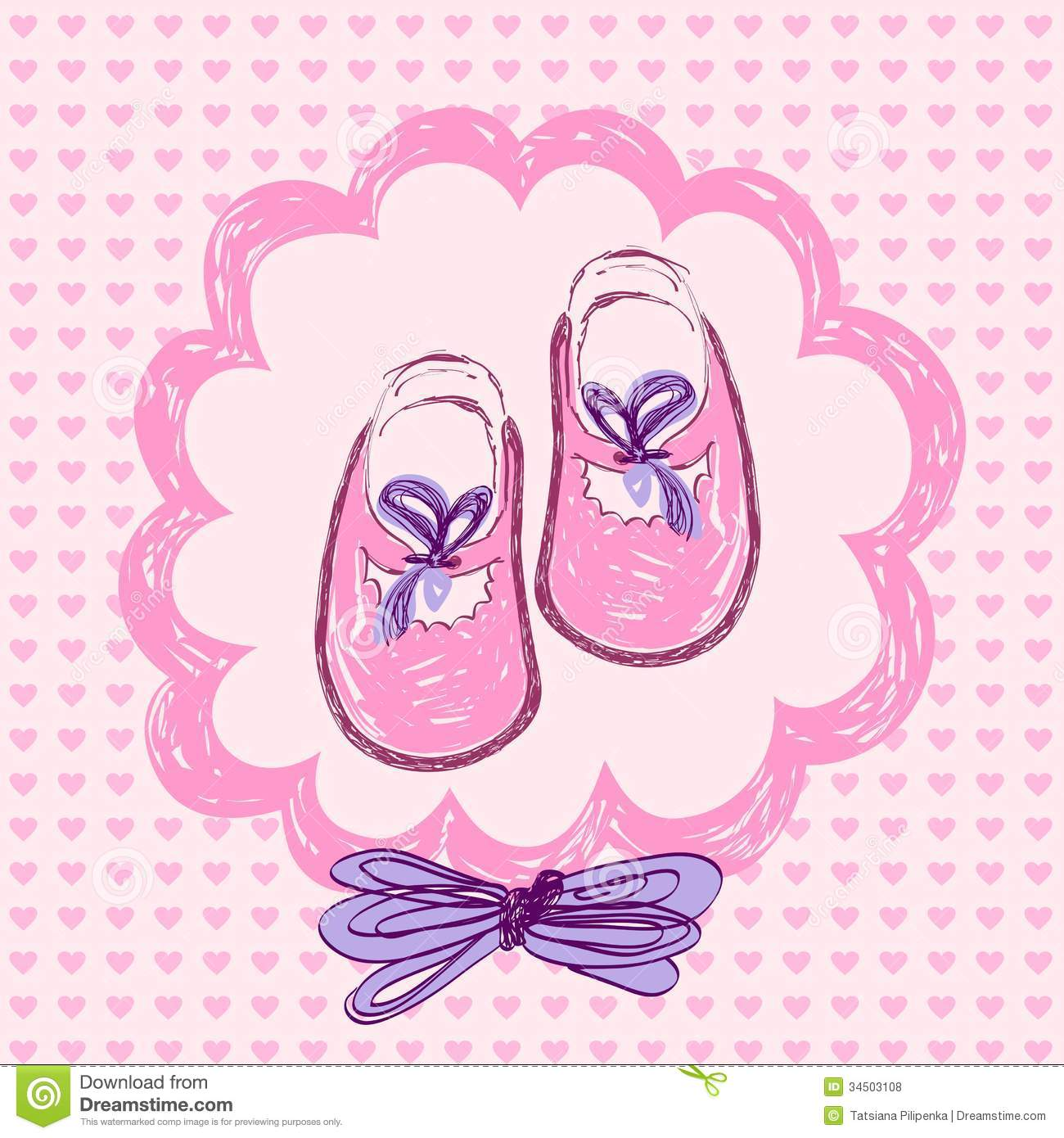 Baby girl booties clipart clip free download Clip Art Baby With Hat And Booties Clipart - Clipart Kid clip free download
