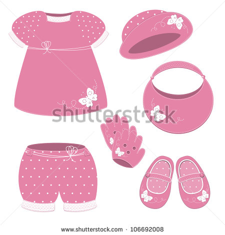 Baby girl booties clipart picture black and white stock Clip Art Baby With Hat And Booties Clipart - Clipart Kid picture black and white stock