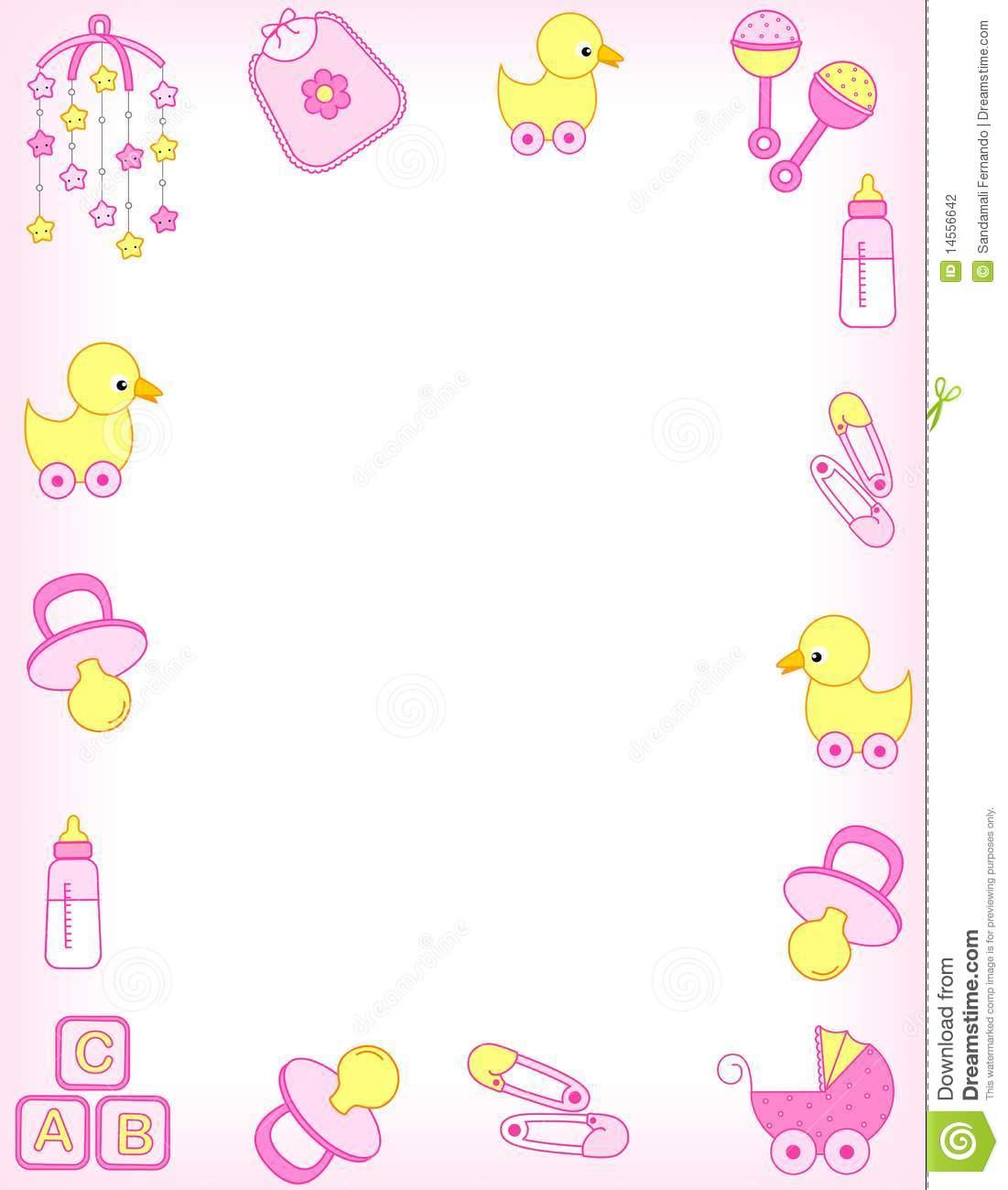 Baby girl border clipart banner transparent stock 37+ Baby Shower Border Clip Art | ClipartLook banner transparent stock