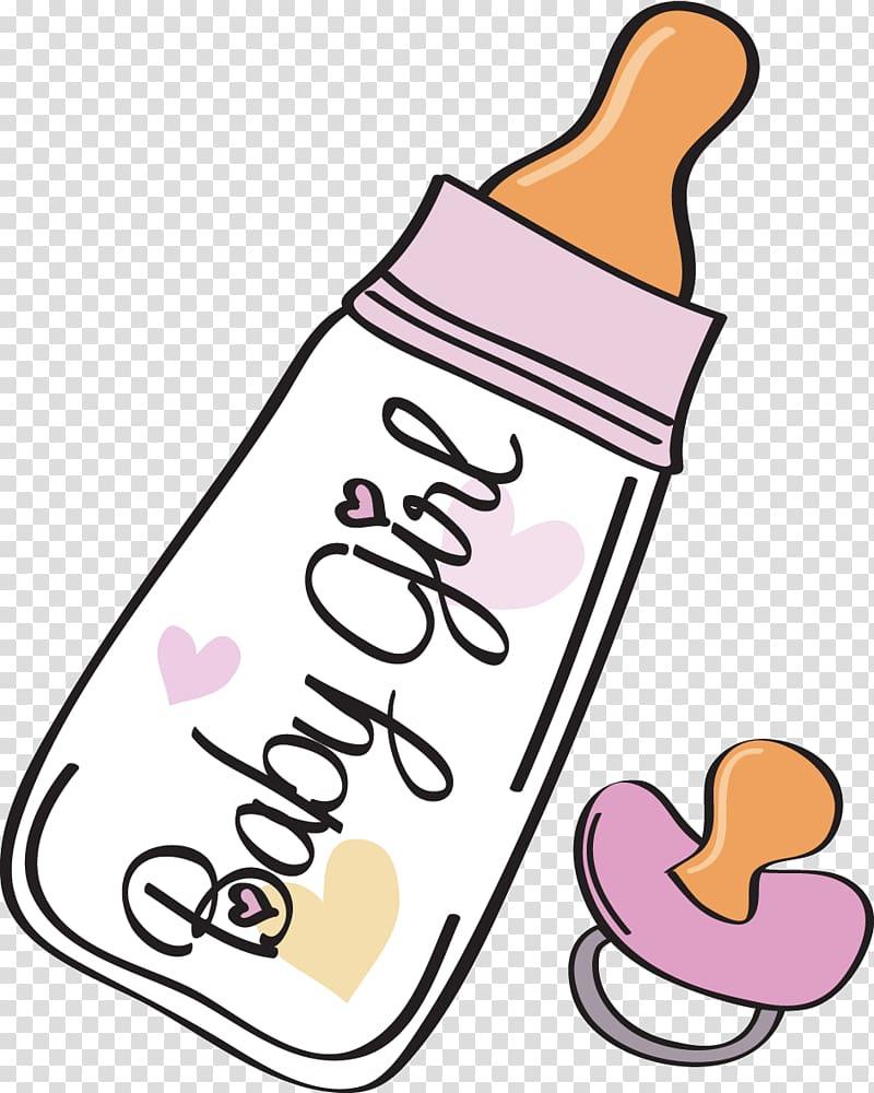 Baby girl bottles clipart picture library stock Baby girl feeding bottle illustration, Baby bottle Baby announcement ... picture library stock