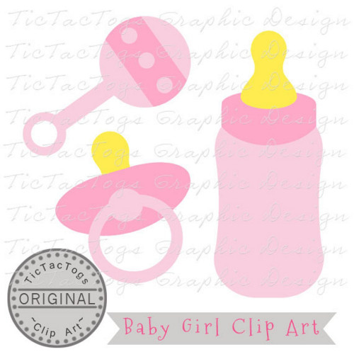 Baby girl bottles clipart picture royalty free stock Baby Shower Clipart, Baby Clipart, Baby Girl Clip Art, Personal and CU picture royalty free stock