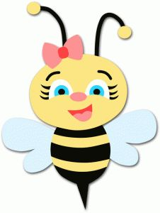 Cute bee clipartfest clip. Baby girl bumblebee clipart