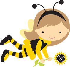 Baby girl bumblebee clipart. Abelhinhas ca png minus