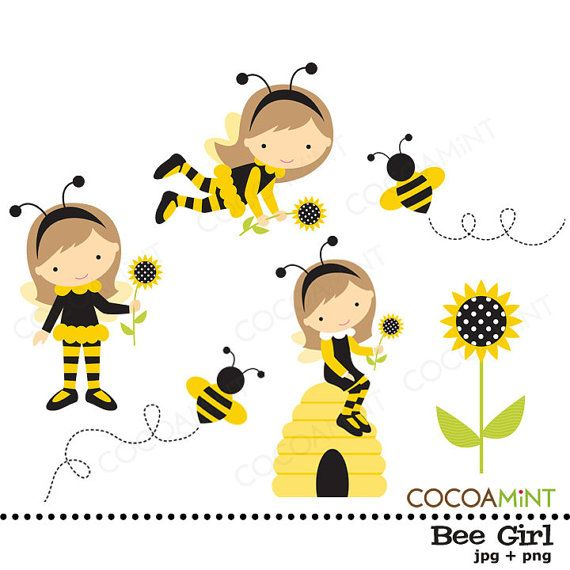 best ideas about. Baby girl bumblebee clipart
