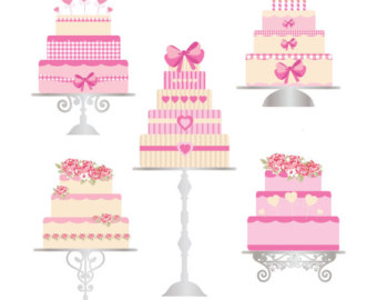 Baby girl cake clipart jpg freeuse download Chic cake clipart – Etsy jpg freeuse download
