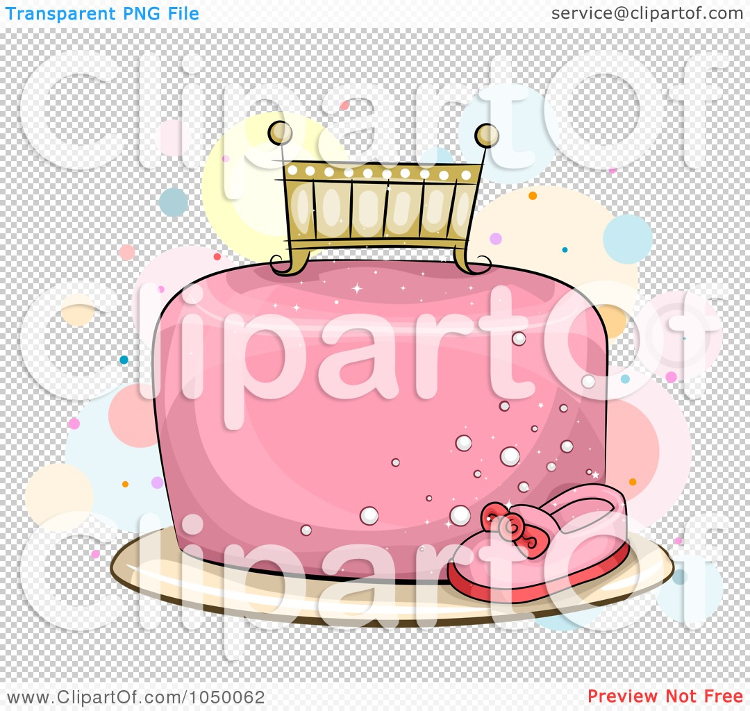 Royalty free rf clip. Baby girl cake clipart