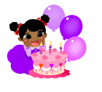Baby girl cake clipart. Clipartfest birthday with and