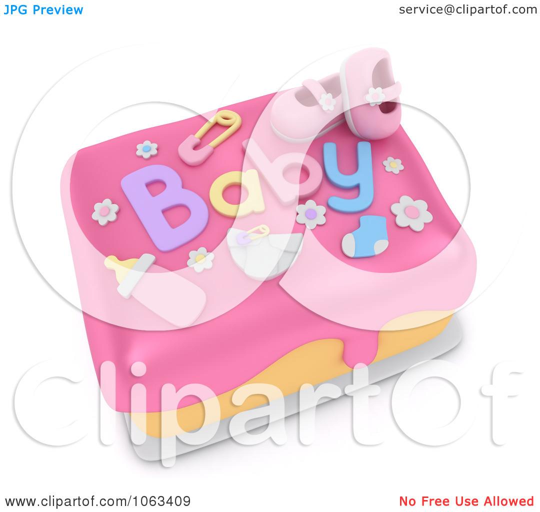 Clipartfest d shower . Baby girl cake clipart