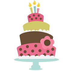 Clipartfox birthday . Baby girl cake clipart