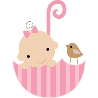 Clipartfox birds shower . Baby girl cake clipart
