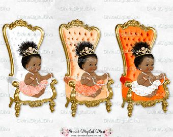 Baby girl chair clipart png royalty free stock Ballerina Throne Chair Peach White Tangerine Gold | African American ... png royalty free stock