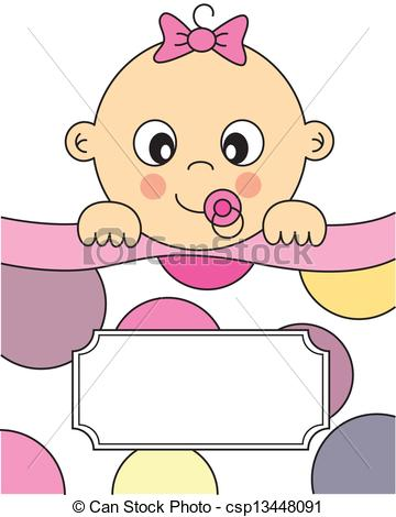 Baby girl christening clipart. Illustrations and clip art
