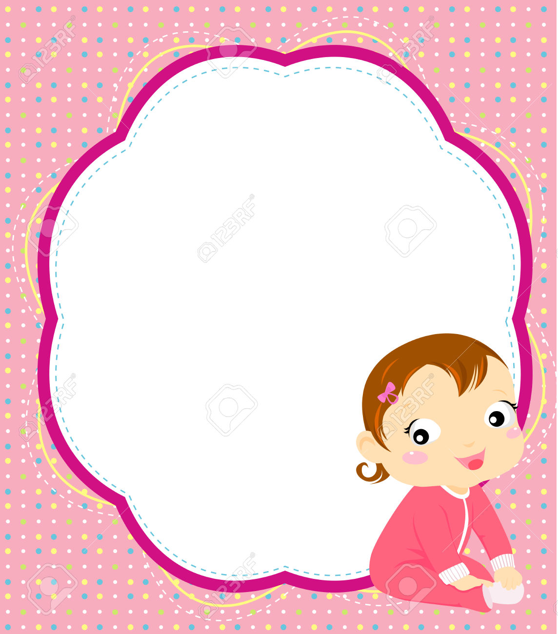 Baby girl christening clipart vector transparent stock Baby Girl Royalty Free Cliparts, Vectors, And Stock Illustration ... vector transparent stock