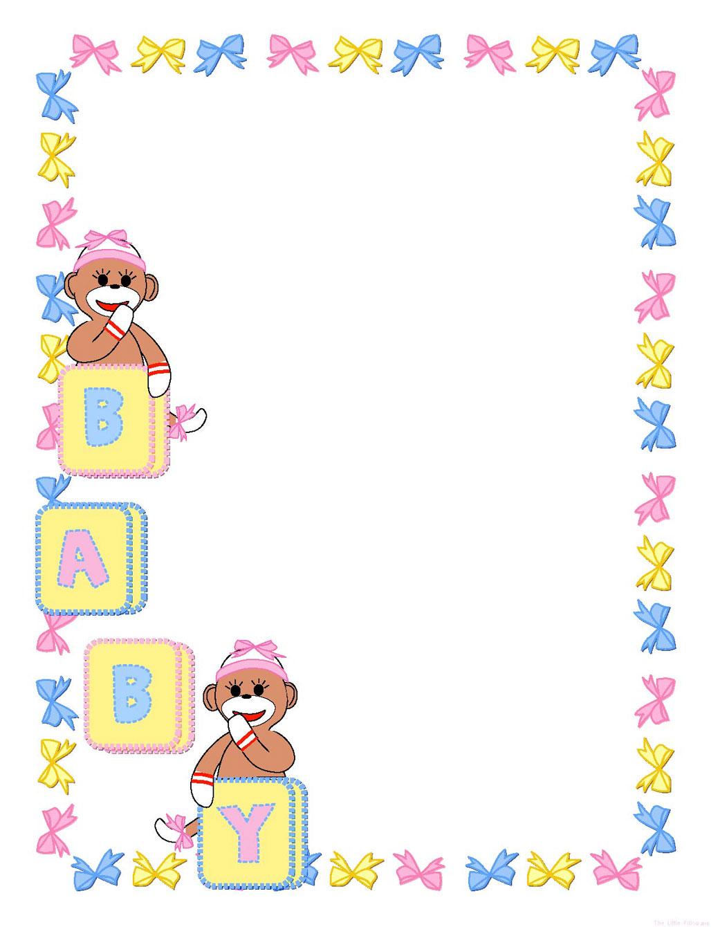 Baby girl clipart border vector royalty free download Baby Border Clipart - Clipart Kid vector royalty free download