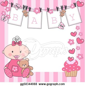 Baby girl clipart border clip library library Border clipart new baby girl - ClipartFox clip library library