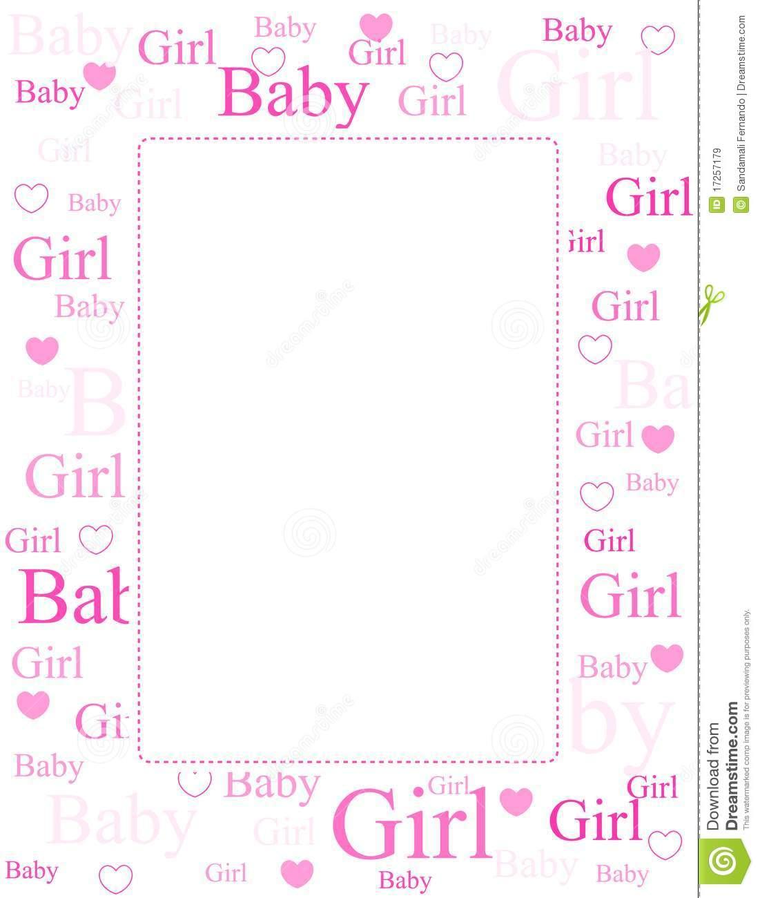 Baby girl clipart border jpg transparent download Baby girl border clipart free - ClipartFest jpg transparent download