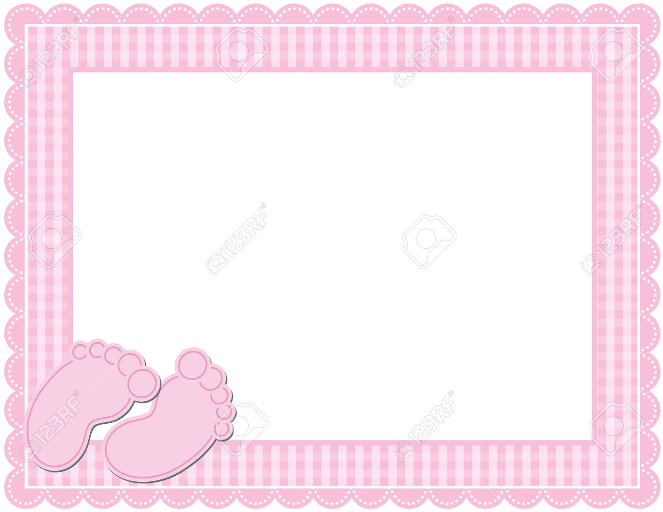 Baby girl clipart border image library stock Baby girl shower border clipart - ClipartFest image library stock