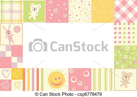 Baby girl clipart border png library download Clipart baby girl borders - ClipartFest png library download